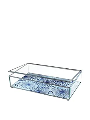 American Atelier Large Dandelions Glass Display Box, Blue