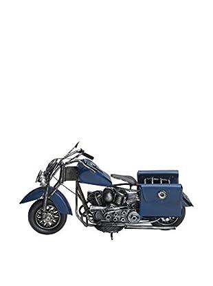 Bombay Company Classic Motorcycle Model, Blue