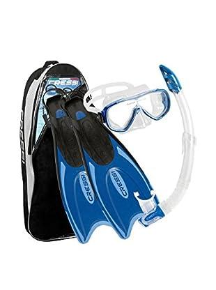 Cressi Set Máscara + Tubo Snorkel + Aletas Palau