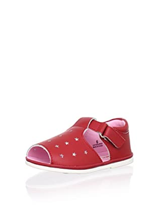 L'Amour Shoes Kid's Star Sandal (Red)