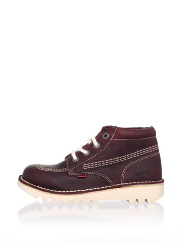 Kickers Kid's Rallye-84 Lace Up Ankle Boot (Little Kid) (Burgundy)