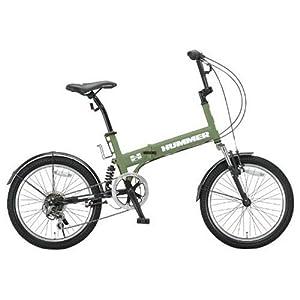 【クリックで詳細表示】Amazon.co.jp | HUMMER(ハマー) 20インチシマノ6段変速折りたたみ自転車 [Wサスペンション/前後フェンダー/Vブレーキ/ボトルゲージ/リフレクター標準装備] マットグリーン HUMMER FDB206 W-sus | スポーツ&アウトドア 通販
