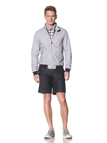 Barque Men's Cotton Fine Stripe Barracuda Jacket (Navy)