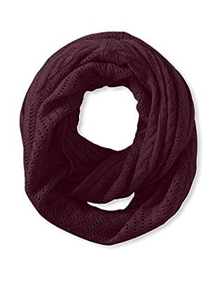 Cullen Women's Cashmere Multi-Texture Infinity Scarf, Blackberry