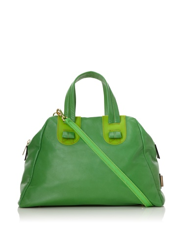 Meredith Wendell Women's Slouchy Fishbowl Small Satchel (Green)