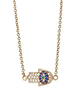 Jules Smith Mini Pavé Hamsa Charm Necklace