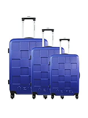 Zifel Set de 3 trolleys rígidos Abs