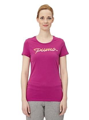 Puma Damen T-Shirt Pumascript II (wild aster)
