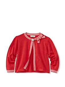 Darcy Brown London Girl's Kelly Cardigan (Red/White Stripe)
