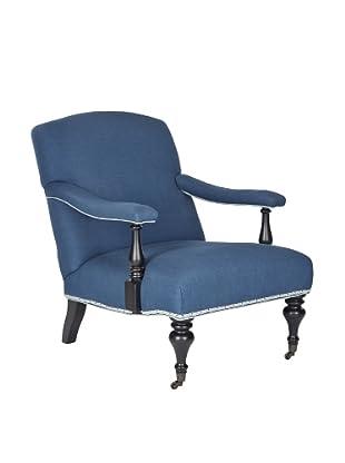 Safavieh Devona Arm Chair, Steel Blue