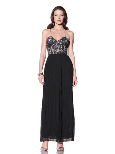 Vena Cava Women's Sassy Lace Long Dress (Black/Navy)