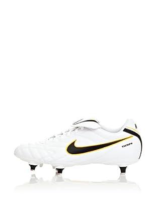 Nike Botas Fútbol Tiempo Natural Iii Sg (Blanco / Negro / Amarillo)