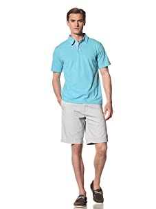 Report Collection Men's Pique Polo Shirt (Turquoise)