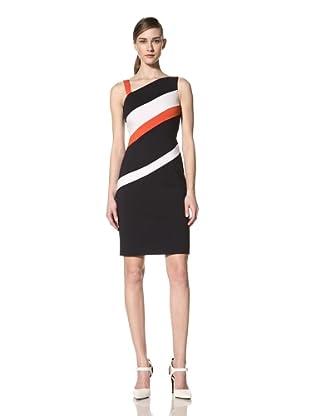 Nue by Shani Women's Diagonal Colorblock Dress (Multi)