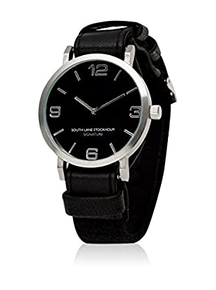 South Lane Reloj de cuarzo Unisex South Lane Signature Collaboration Black Leather and Wool 40 mm
