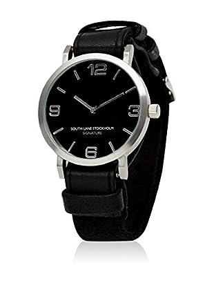 South Lane Reloj de cuarzo Unisex South Lane Signature Collaboration Black Leather and Wool 40 mm