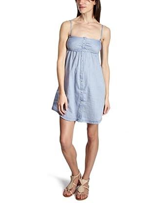 Lee Vestido Smock (Azul claro)