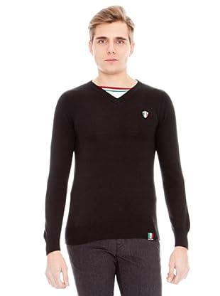 Unitryb Jersey Cuello De Pico (Negro)