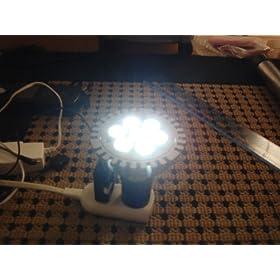 【クリックでお店のこの商品のページへ】7灯×1Wの強力LED!(白)海水魚、サンゴ、コーラルに!: おもちゃ