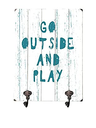 Artehouse Go Outside And Play Leash Hanger, Green/White