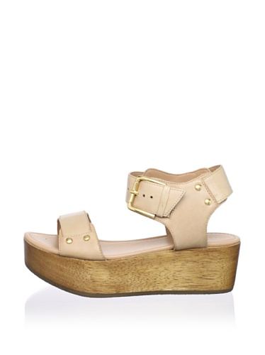 Madison Harding Women's Donna Flatform Sandal (Beige)