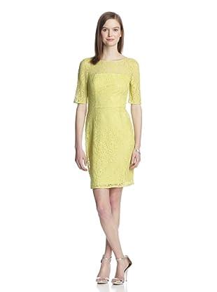 Muse Women's Lace Sheath Dress (Chartreuse)