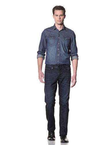 Dylan George Men's Jack Coated Flap Pocket Jeans (Hazzard Blue)