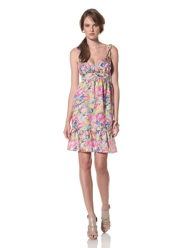 COLLETTE BY COLLETTE DINNIGAN Women's Sleeveless Ruffle Dress (Floral Haze)