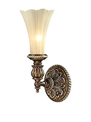 Artistic Lighting Allesandria 1-Light LED Wall Sconce, Burnt Bronze/Weathered Gold Leaf