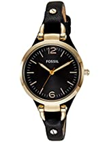 Fossil End-of-Season Georgia Analog Black Dial Women's Watch - ES3148