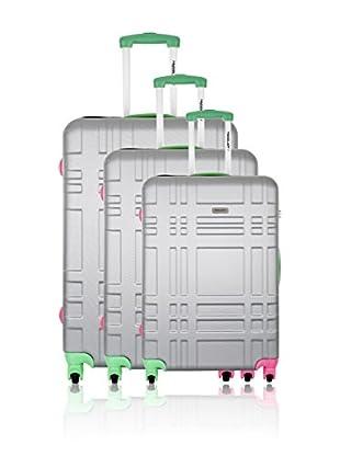 Travel ONE Set de 3 trolleys rígidos Fever Plata