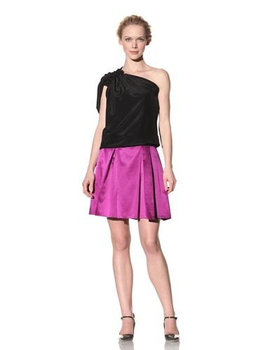Philosophy di Alberta Ferretti Women's One-Shoulder Silk Top (Black)