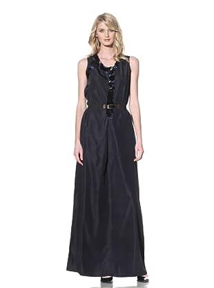 MARNI Women's Long Sequin-Trimmed Dress (Deep Blue)