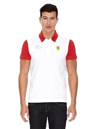 Ferrari Polo shirt Alonso Block (Blanco)