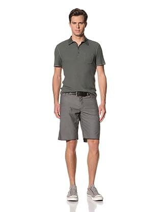 John Varvatos Star USA Men's Cotton Shorts with Frayed Hem (Oxide)