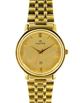 Maxima Gold Analog Gold Dial Men's Watch - 07141CMGY