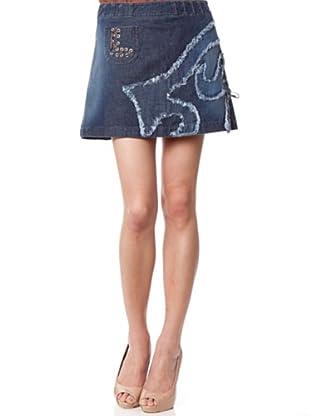 Custo Mini Falda Shin (Azul)