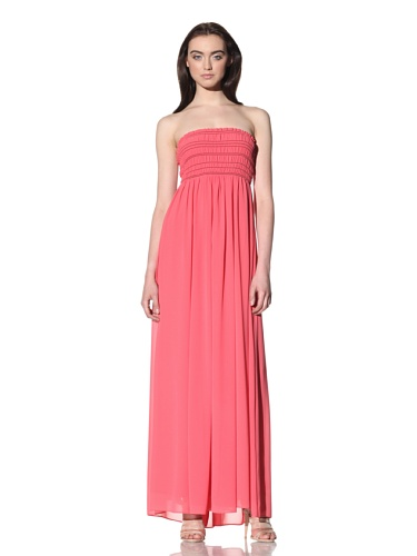 Robbi & Nikki Women's Smocked Maxi Dress (Strawberry)