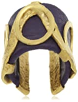 Bansri Leather Ring for Women (Purple) (R19 PURP- J52)