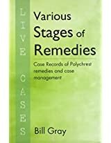 Various Stages of Remedies: 1