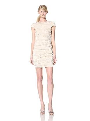 Alexia Admor Women's Crinkled Taffeta Shift Dress (Creme)