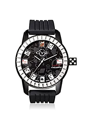 GV2 by Gevril Men's 9301 Lucky 7 Black Rubber Watch