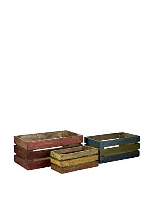 Set of 3 Midway Wood Crates