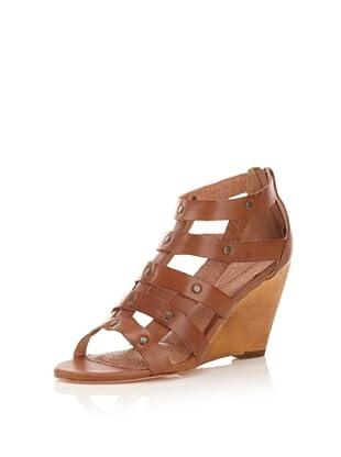 Corso Como Women's Leila Wedge Sandal (Cognac)