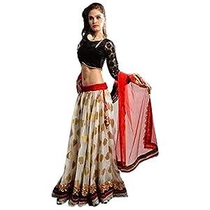 Pure georgette with jacquard & velvet blouse with Resham jari Work Lehenga