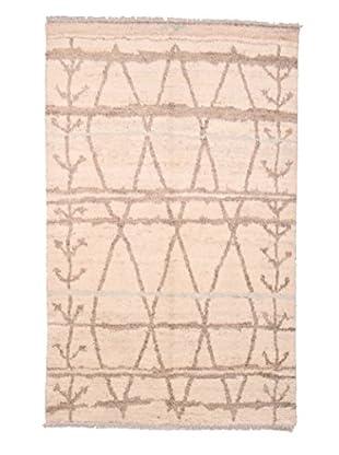 Darya Rugs Moroccan Oriental Rug, Beige, 5' x 8'