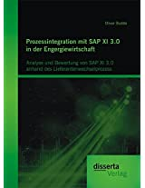 Prozessintegration Mit SAP XI 3.0 in Der Engergiewirtschaft: Analyse Und Bewertung Von SAP XI 3.0 Anhand Des Lieferantenwechselprozess