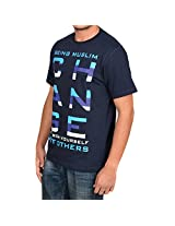 Being Muslim Blue T-Shirt for Men