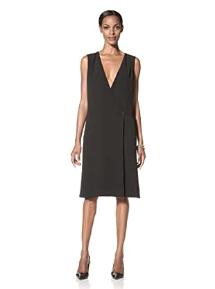 Giorgio Armani Women's Silk Wrap Dress (Black)