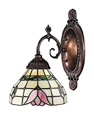 Artistic Lighting Mix-N-Match Tiffany Wall Sconce, Pink/Bronze